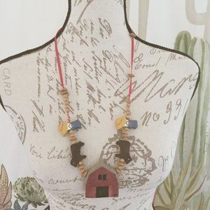 Farm Necklace Wood Beads